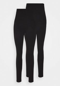 Even&Odd - 2 PACK HIGH WAISTED LEGGINGS - Leggings - black