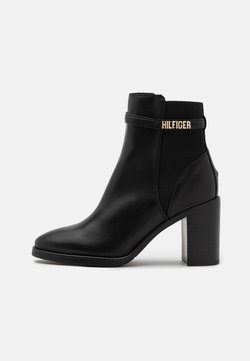 Tommy Hilfiger - BLOCK BRANDING BOOT - High Heel Stiefelette - black