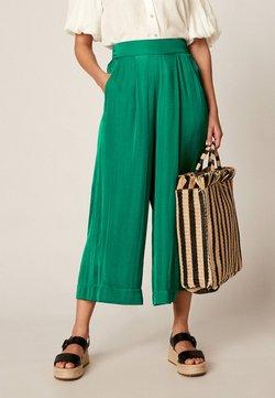 OYSHO - CULOTTE - Spodnie materiałowe - green