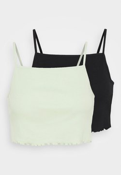 Even&Odd - 2 PACK - Top - black/green