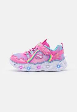 Skechers - HEART LIGHTS - Sneaker low - pink/multicolor