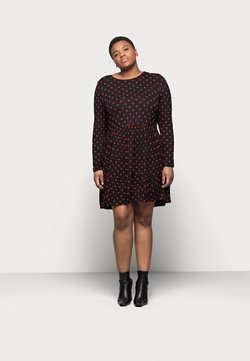Even&Odd Curvy - Trikoomekko - black/red