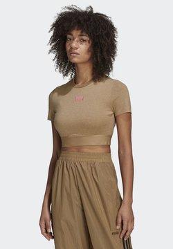 adidas Originals - CROPPED TEE - T-shirt print - cardboard