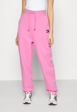 Tommy Jeans - RELAXED BADGE PANT - Jogginghose - pink daisy