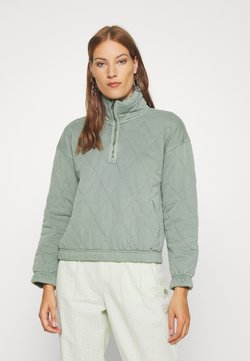 Abercrombie & Fitch - QUILTED ZIP - Overgangsjakker - green