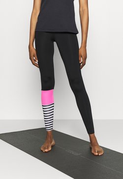 Hey Honey - LEGGINGS SURF STYLE - Tights - neon pink/black