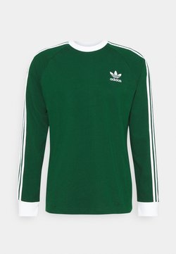 adidas Originals - 3 STRIPES UNISEX - Longsleeve - dark green