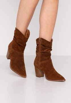 Anna Field - LEATHER CLASSIC ANKLE BOOTS - Bottines - cognac