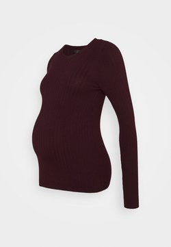 New Look Maternity - JUMPER CREW  - Jersey de punto - dark burgundy
