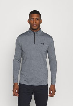 Under Armour - PLAYOFF 1/4 ZIP - Funktionsshirt - pitch gray