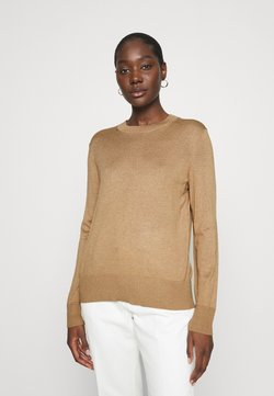 Banana Republic - EASY CREW SOLIDS - Sweter - camel