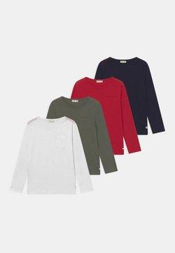 OVS - 4 PACK - Långärmad tröja - scarlet sage/beetle/sky captain/brilliant white