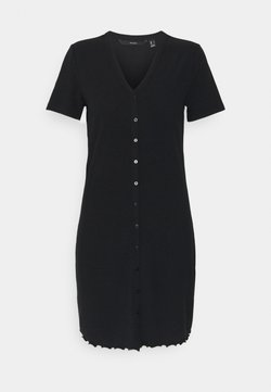 Vero Moda - VMARIA SHORT BUTTON DRESS - Jerseyjurk - black
