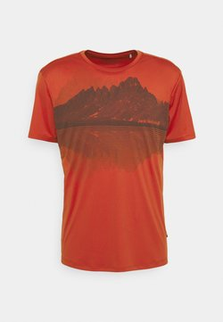 Jack Wolfskin - PEAK GRAPHIC - T-shirt med print - mexican pepper