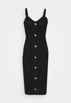 Vero Moda - VMTIA BUTTON CALF DRESS - Abito in maglia - black