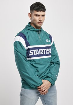 Starter - RETRO - Windbreaker - retro green/blue night/white