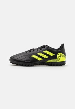 adidas Performance - COPA SENSE.4 TF - Astro turf trainers - core black/solar yellow