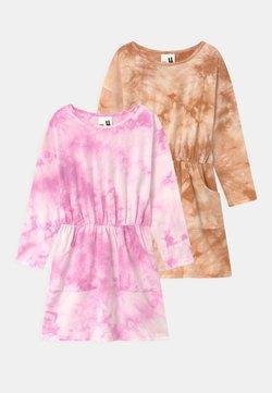 Cotton On - SIGRID LONG SLEEVE 2 PACK - Jerseykleid - purple paradise/roasted almond