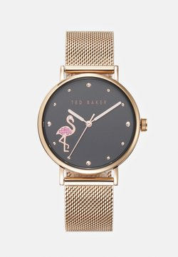 Ted Baker - PHYLIPA FLAMINGO - Watch - rosegold-coloured/black