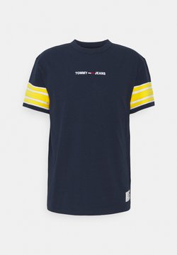 Tommy Jeans - CONTRAST SLEEVE DETAIL TEE - T-Shirt print - twilight navy