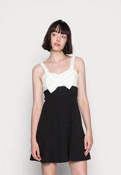 WAL G. - BOW SKATER DRESS - Trikoomekko - black/white