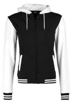 Urban Classics - Sweat à capuche zippé - black/white