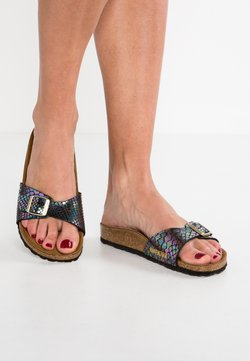 Birkenstock - MADRID - Pantolette flach - shiny/black/multicolor