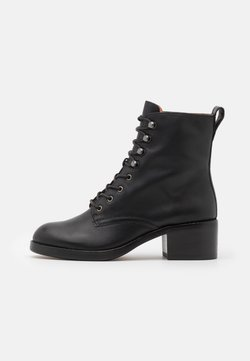 Madewell - PATTI LACE UP BOOT - Schnürstiefelette - true black