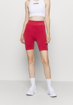 NU-IN - HIGH WAIST COMPRESSION SHORTS - Tights - red