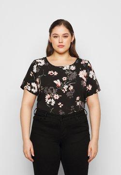 ONLY Carmakoma - CARLUXMAJA  - T-Shirt print - black