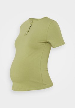 Missguided Maternity - MATERNITY POPPER FRONT - T-Shirt basic - sage