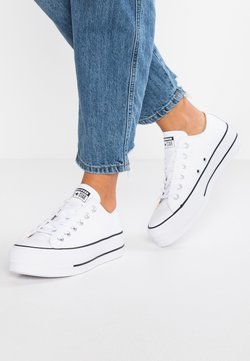 Converse - CHUCK TAYLOR ALL STAR LIFT CLEAN - Matalavartiset tennarit - white/black