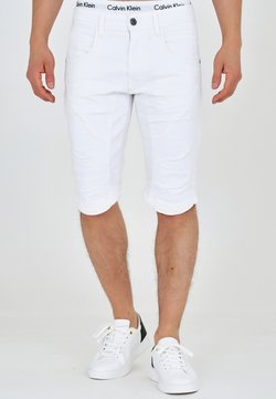 INDICODE JEANS - LEON - Jeansshort - offwhite