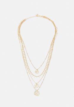 Pieces - PCSANJA COMBI NECKLACE - Collana - gold-coloured