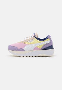 Puma - CRUISE RIDER SILK ROAD - Matalavartiset tennarit - pink lady/yellow pear