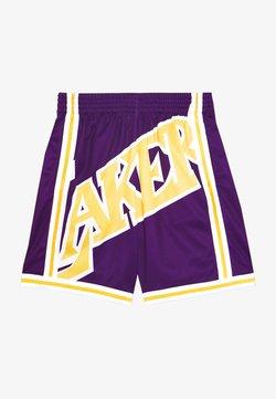 Mitchell & Ness - NBA LA LAKERS BIG FACE SHORT - Short de sport - purple