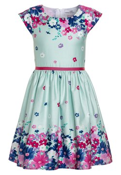 happy girls - BORDERPRINT MIT BLUMEN - Freizeitkleid - ice blue