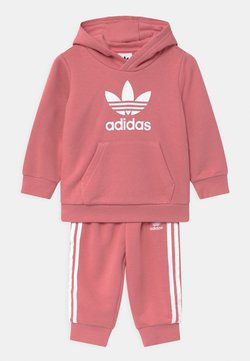 adidas Originals - TREFOIL HOODIE SET UNISEX - Survêtement - hazy rose/white