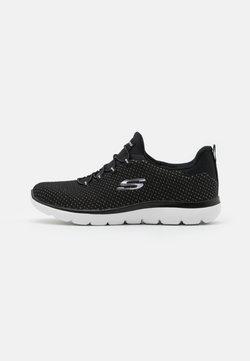 Skechers Sport - SUMMITS - Sneakers laag - black/silver