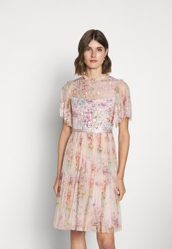 Needle & Thread - FLORAL DIAMOND BODICE MIDI DRESS - Cocktailkleid/festliches Kleid - pink