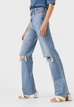 Stradivarius - Jeans Straight Leg - light blue