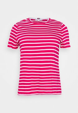 Tommy Hilfiger Curve - COOL TEE - Camiseta básica - ruby jewel/white