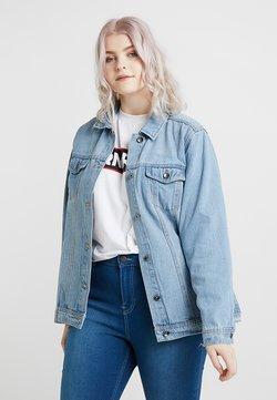 Simply Be - OVERSIZED JACKET - Veste en jean - bleachwash