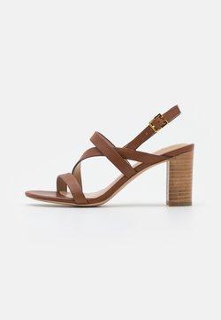 Lauren Ralph Lauren - MACKENSIE - Sandals - deep saddle tan