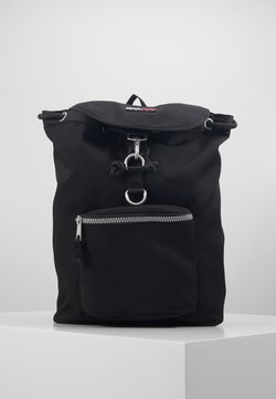 Tommy Jeans - HERITAGE FLAP BACKPACK - Reppu - black