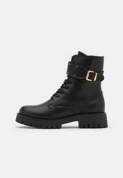 Tamaris - BOOTS  - Plateaustiefelette - black/gold