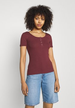 Pieces - PCKITTE - T-Shirt basic - red mahogany