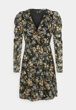 Vero Moda - VMKAMMA NECK WRAP DRESS  - Freizeitkleid - black/flower