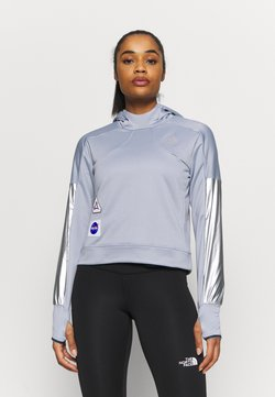 adidas Performance - SPACE HOODIE - Jersey con capucha - silver
