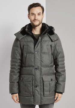 TOM TAILOR - PUFFER - Wintermantel - mid grey structure